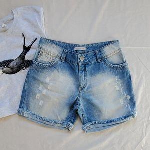 Corpo E Alma Distressed Jean Shorts